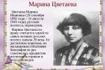 К 125-летию  Марины  Цветаевой